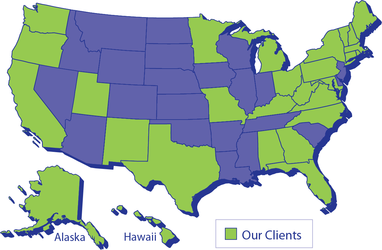 Map of Clients in the US