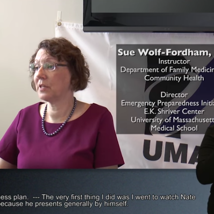 Sue Wolf-Fordham screenshot from video