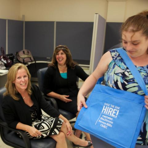Work Without Limits shows off blue wrap bags