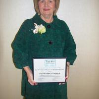 Joyce A. Murphy with The Commonwealth Institute award