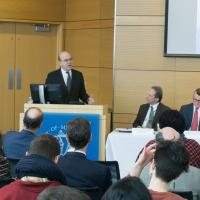 U.S. Rep. James P. McGovern speaks at UMass Medical School ACA repeal and replace panel
