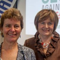 Laurie Martinelli, Executive Director of NAMI Mass, and Executive Vice Chancellor Joyce Murphy