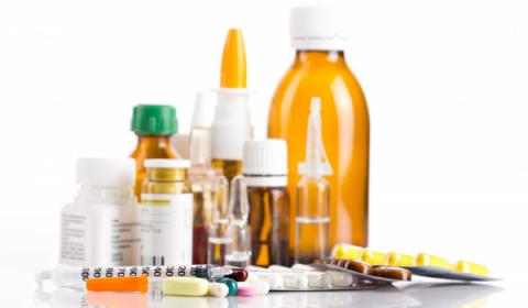 Medications and pill bottles