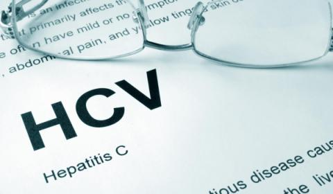 HCV written on a piece of paper