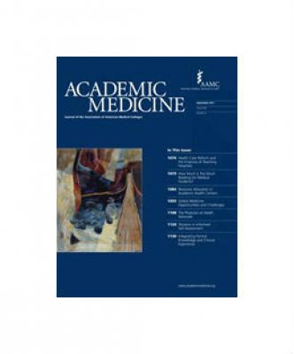 Cover of September 2011 Academic Medicine