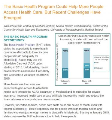 The Basic Health Program Could Help More People Access Health Care, But Recent Challenges Have Emerged