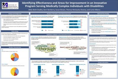 Identifying Effectiveness & Areas for Improvement in Innovative Program Serving Medically Complex Individuals with Disabilities