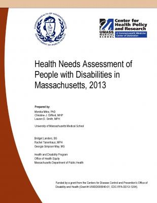 Cover from Health Needs Assessment of People with Disabilities in Massachusetts, 2013