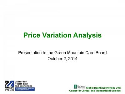 Vermont Price Variation Analysis
