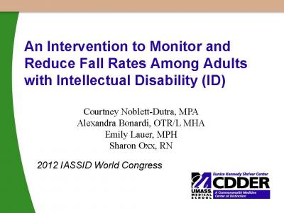 Cover of An Intervention to Monitor and Reduce Fall Rates Among Adults with Intellectual Disability