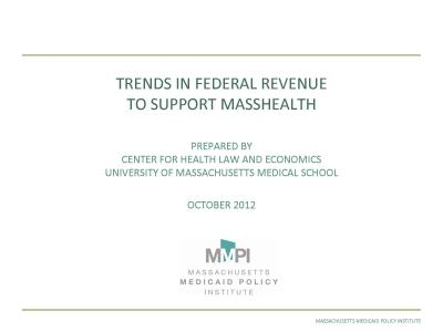 Cover of Trends in Federal Revenue to Support MassHealth