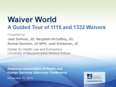 Cover of Waiver World: A Guided Tour of 1115 and 1332 Waivers
