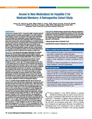 Cover of Access to New Medications for Hepatitis C for Medicaid Members: A Retrospective Cohort Study