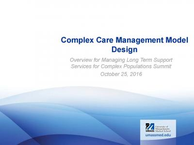 Cover of Complex Care Management Model Design