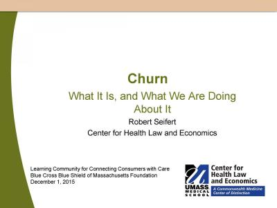 Cover of Churn: What It Is, and What We Are Doing About It
