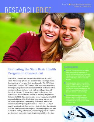 Cover of Evaluating the State Basic Health Program in Connecticut