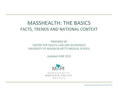Cover of MassHealth: The Basics - Facts, Trends and National Context