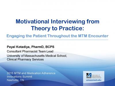 Cover of motivational interviewing presentation