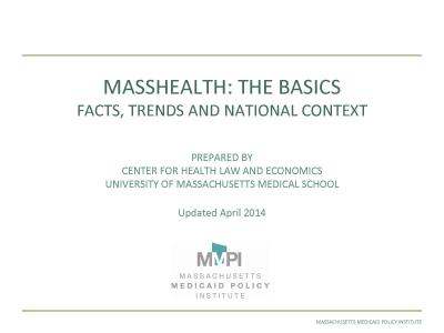 UPDATED MassHealth: The Basics - Facts, Trends and National Context