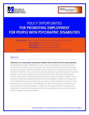 Cover of policy opportunities white paper