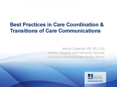Cover of Best Practices in Care Coordination & Transitions of Care Communications