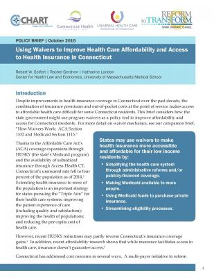 How Waivers Work: ACA Section 1332 and Medicaid Section 1115