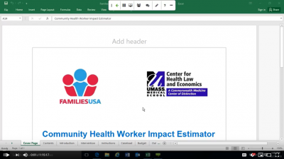 Families USA CHW webinar screenshot