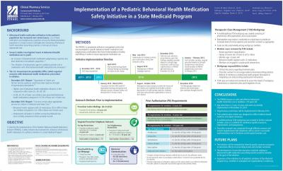 Implementation of a Pediatric Behavioral Health Medication Safety Initiative in a State Medicaid Program