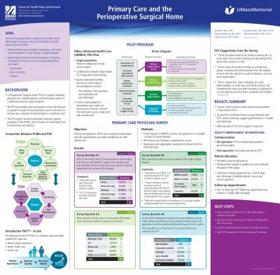 Primary Care and the Perioperative Surgical Home