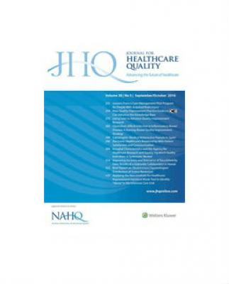 Cover of Journal for Healthcare Quality