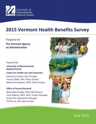 2015 Vermont Health Benefits Survey