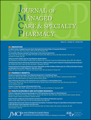 Cover of October Journal of Managed Care & Specialty Pharmacy
