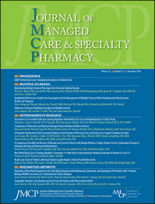 Cover of December issue of JMCP