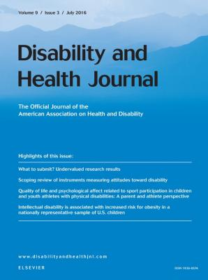 Cover of Disability and Health Journal