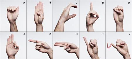 Image of hands using sign language