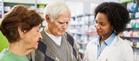 Pharmacist counseling patients