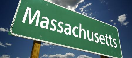 Road sign that reads Massachusetts
