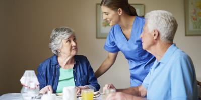 Direct care worker in a home